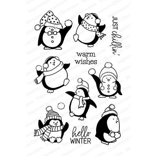 Impression Obsession Clear Stamps JUST CHILLIN CL1097 Preview Image