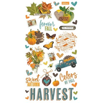 Simple Stories VINTAGE COUNTRY HARVEST 6 x 12 Chipboard Stickers 16320