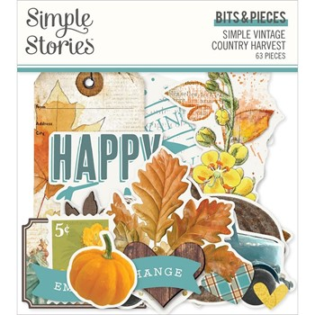 Simple Stories VINTAGE COUNTRY HARVEST Bits And Pieces 16321