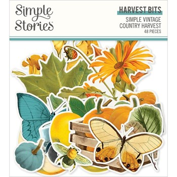 Simple Stories VINTAGE COUNTRY HARVEST Bits And Pieces 16322
