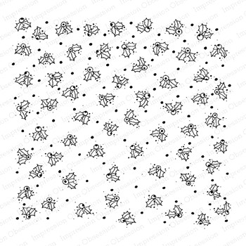 Impression Obsession Cling Stamp HOLIDAY HOLLY Cover A Card CC428