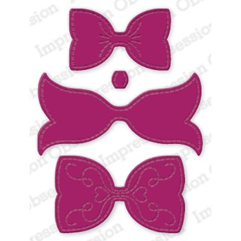 Impression Obsession SMALL LAYERED BOW Dies DIE1133