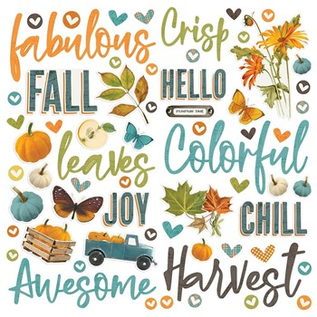 Simple Stories VINTAGE COUNTRY HARVEST Foam Stickers 16326