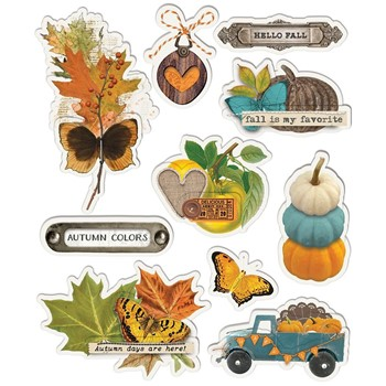 Simple Stories VINTAGE COUNTRY HARVEST Layered Stickers 16327