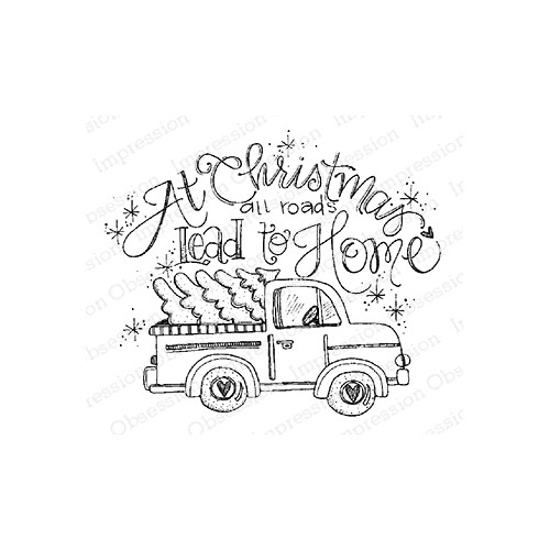 Impression Obsession Cling Stamp ALL ROADS TRUCK E12379 Preview Image