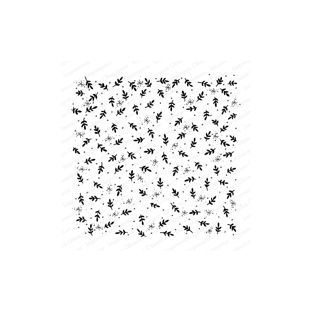 Impression Obsession Cling Stamp SNOWFLAKES LEAVES Cover A Card CC429 zoom image