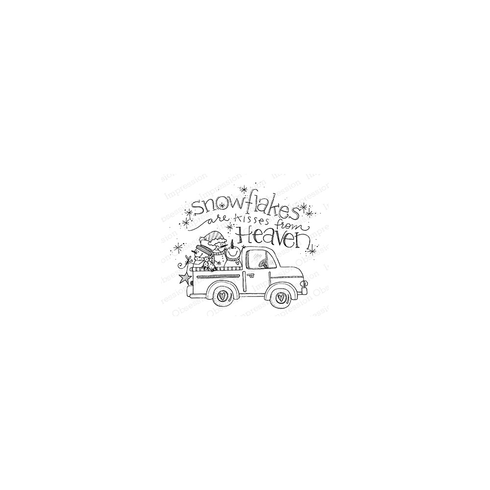 Impression Obsession Cling Stamp SNOWFLAKE TRUCK E12380 zoom image