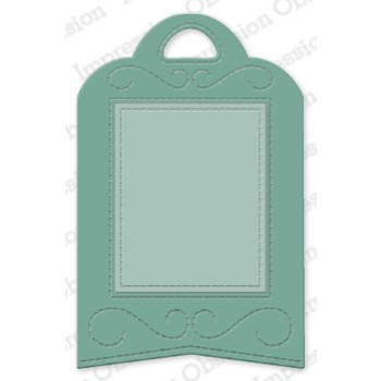 Impression Obsession STITCHED FRAME TAG Dies DIE1135