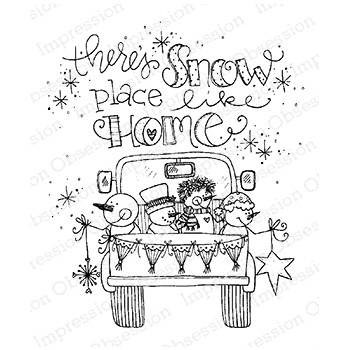 Impression Obsession Cling Stamp SNOW PLACE TRUCK E12378