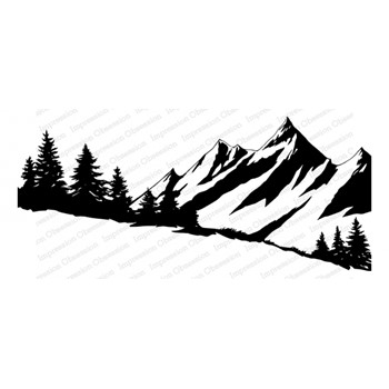 Impression Obsession Cling SNOWY MOUNTAINS 3280-LG