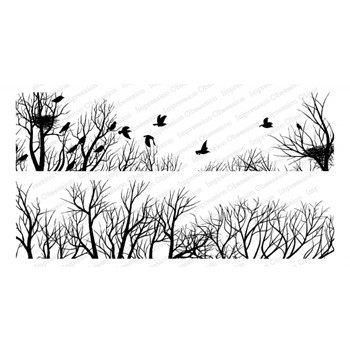 Impression Obsession Cling WINTER BIRDS 3279-LG