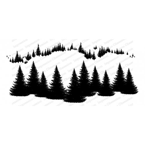 Impression Obsession Cling FIR TREES 3278-LG Preview Image