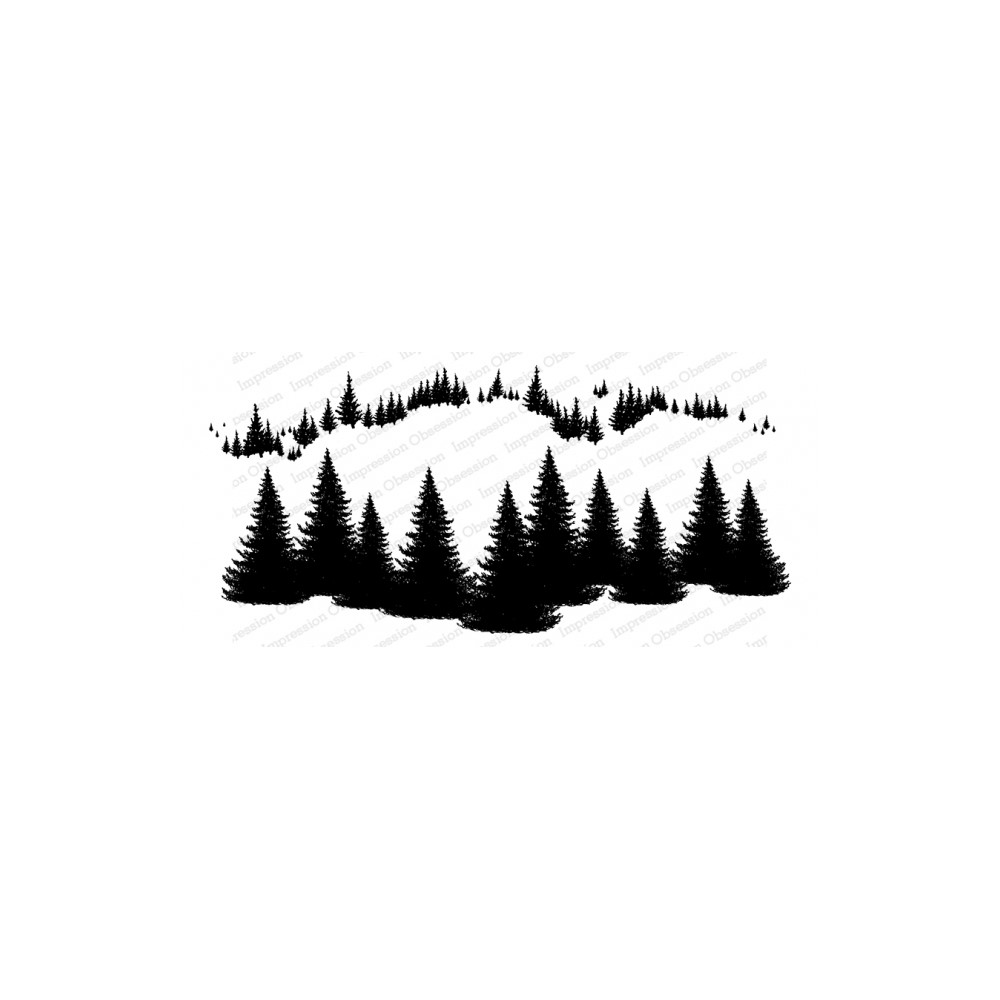 Impression Obsession Cling FIR TREES 3278-LG zoom image