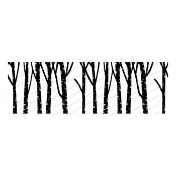 Impression Obsession Cling BIRCH TREES 3277-LG
