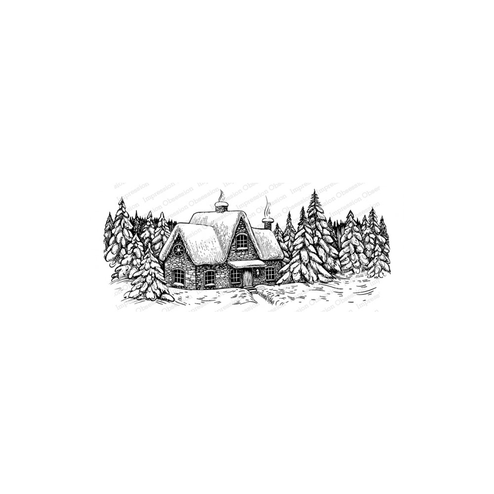 Impression Obsession Cling WINTER COTTAGE 3276-LG zoom image