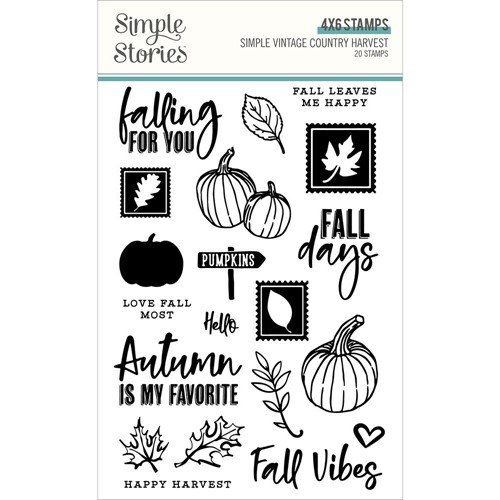 Simple Stories VINTAGE COUNTRY HARVEST Clear Stamp Set 16331 Preview Image