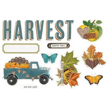 Simple Stories VINTAGE COUNTRY HARVEST Page Pieces 16333