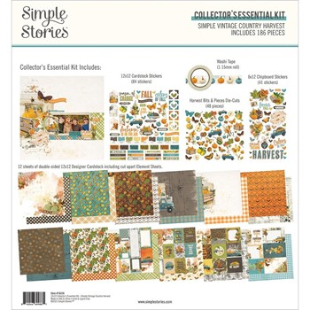 Simple Stories VINTAGE COUNTRY HARVEST 12 x 12 Collector's Essential Kit 16336