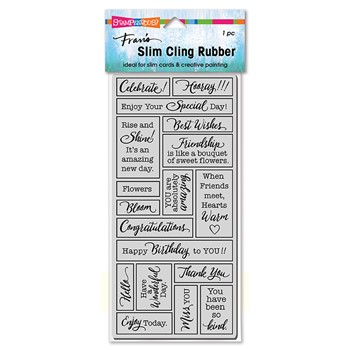 Stampendous Cling Stamp SLIM BOXED CELEBRATE csl24