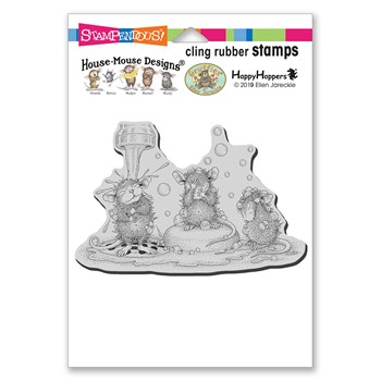 Stampendous Cling Stamp SOAPING UP hmcp147 House Mouse