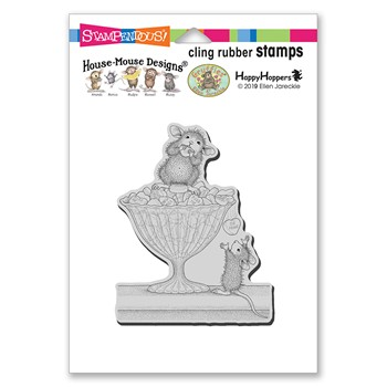 Stampendous Cling Stamp HEART TREATS hmcp149 House Mouse