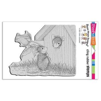 Stampendous Cling Stamp ROSE SURPRISE hmcr154 House Mouse