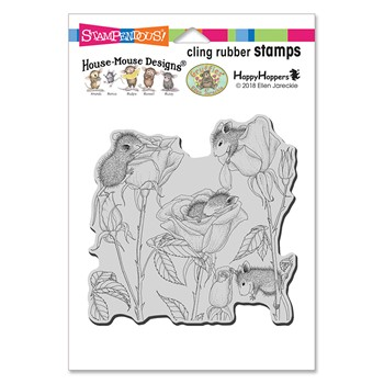 Stampendous Cling Stamp ROSE PLAY hmcw12 House Mouse