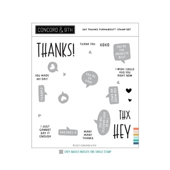 Concord & 9th SAY THANKS TURNABOUT Clear Stamp Set 11236