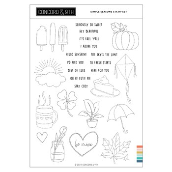 Concord & 9th SIMPLE SEASONS Clear Stamp Set 11239
