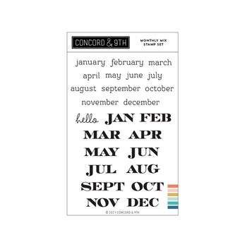 Concord & 9th MONTHLY MIX Clear Stamp Set 11234