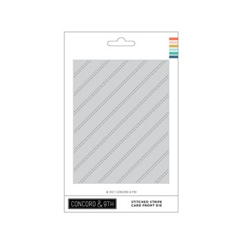Concord & 9th STITCHED STRIPE CARD FRONT Die 11242