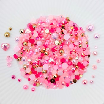 Little Things From Lucy's Cards Crystal Collection THINK PINK Sparkly Shaker Mix LB412