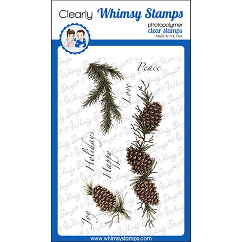 Whimsy Stamps SLIMLINE PINES Clear Stamps DA1163 Preview Image