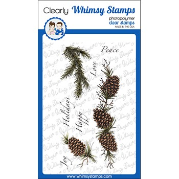 Whimsy Stamps SLIMLINE PINES Clear Stamps DA1163