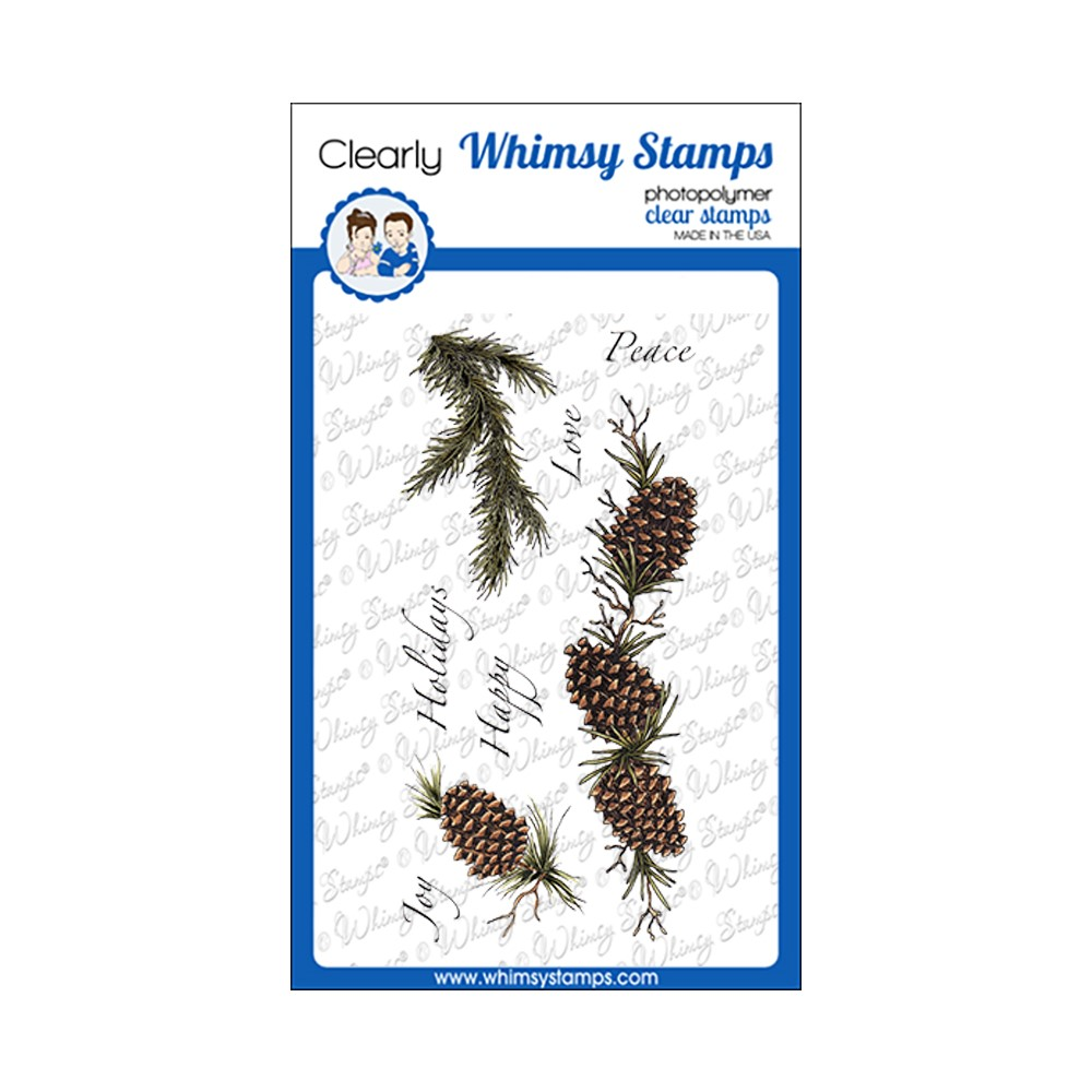 Whimsy Stamps SLIMLINE PINES Clear Stamps DA1163 zoom image