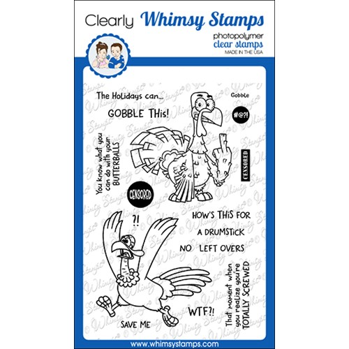 Whimsy Stamps GOBBLE THIS Clear Stamps CWSD395 Preview Image