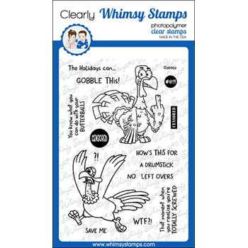 Whimsy Stamps GOBBLE THIS Clear Stamps CWSD395