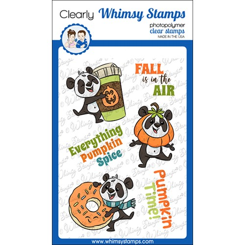 Whimsy Stamps PUMPKIN SPICE PANDAS Clear Stamps KHB190a Preview Image