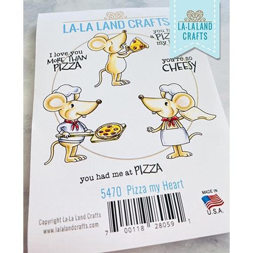 La-La Land Crafts Cling Stamps PIZZA MY HEART 5470 Preview Image
