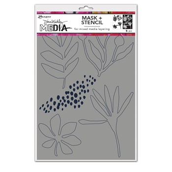 Dina Wakley THINGS THAT GROW Media Stencil And Mask Ranger mds77732
