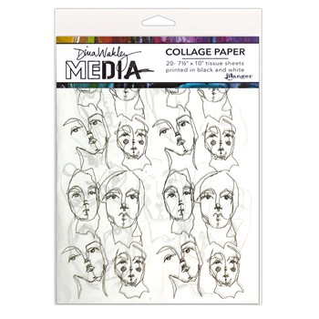 Dina Wakley CHURCH DOODLES Media Collage Paper Ranger mds77862