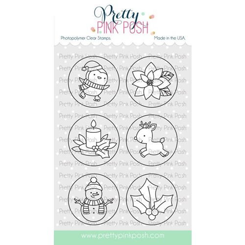 Pretty Pink Posh WINTER CIRCLES Clear Stamps Preview Image