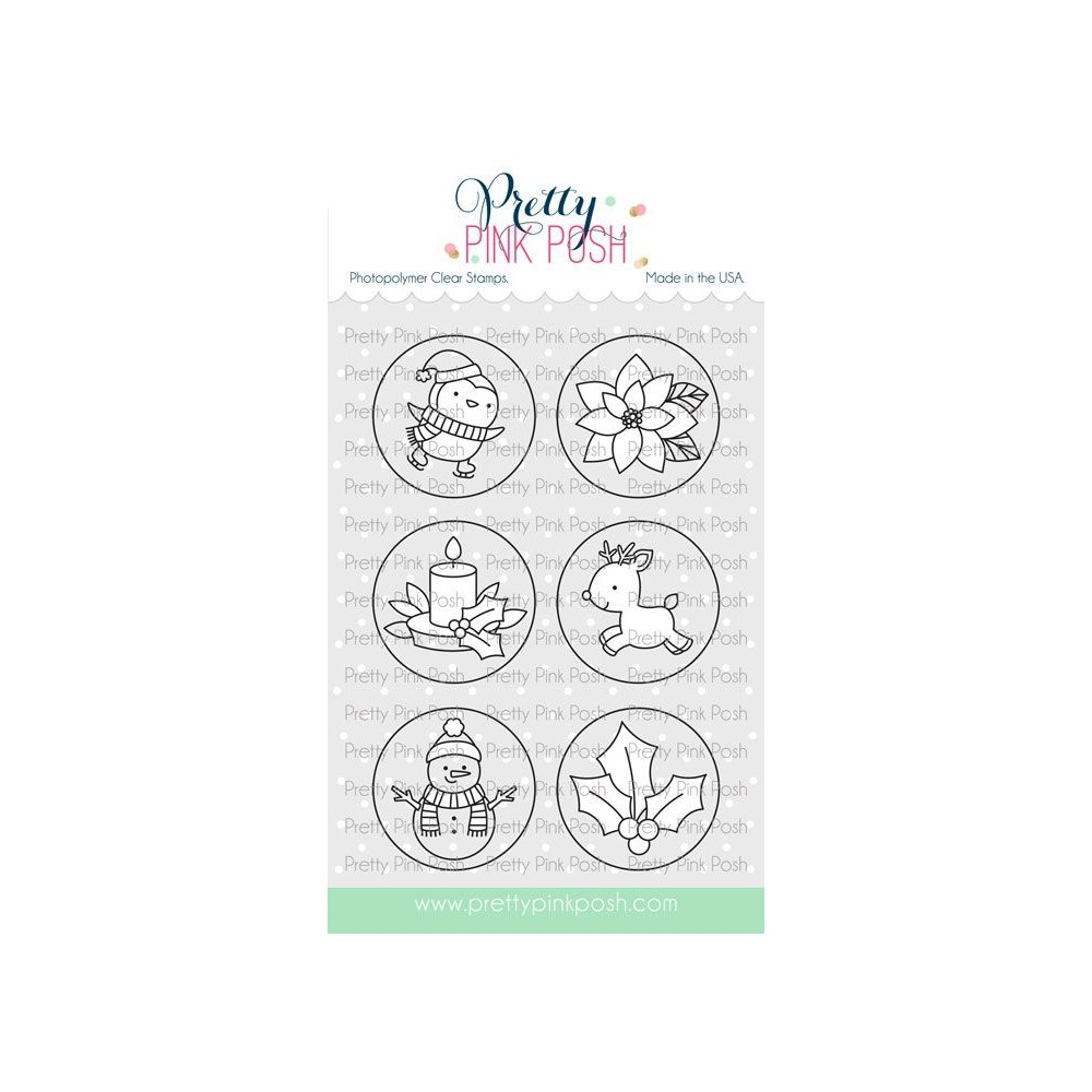 Pretty Pink Posh WINTER CIRCLES Clear Stamps zoom image