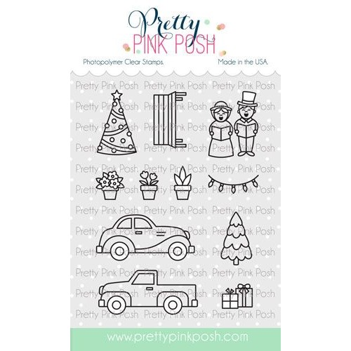 Pretty Pink Posh VILLAGE ADDITIONS Clear Stamps Preview Image