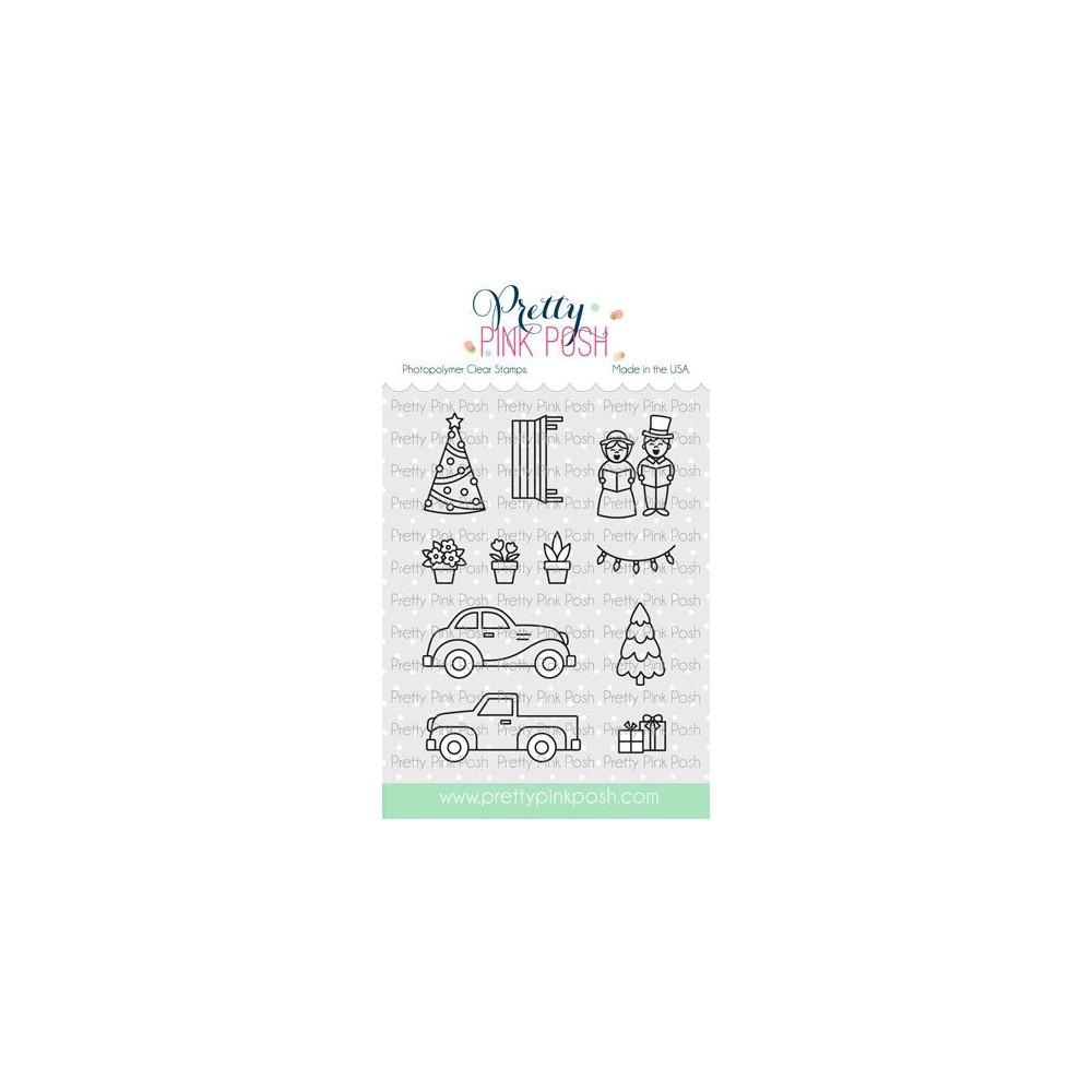 Pretty Pink Posh VILLAGE ADDITIONS Clear Stamps zoom image