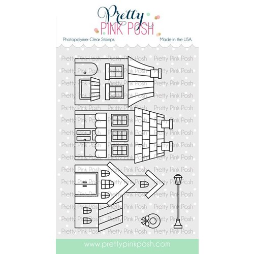 Pretty Pink Posh VILLAGE Clear Stamps Preview Image