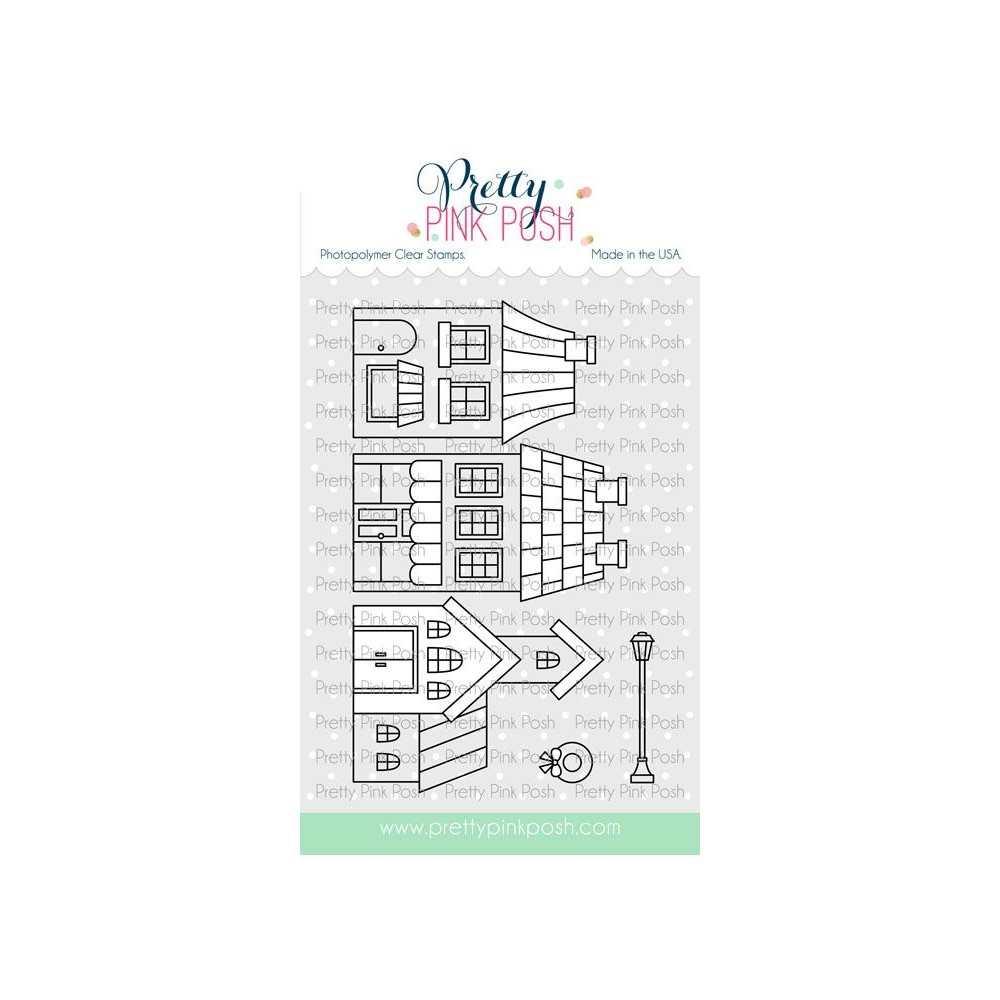 Pretty Pink Posh VILLAGE Clear Stamps zoom image