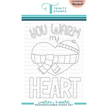 Trinity Stamps WARM HEART Clear Stamp Set tps151