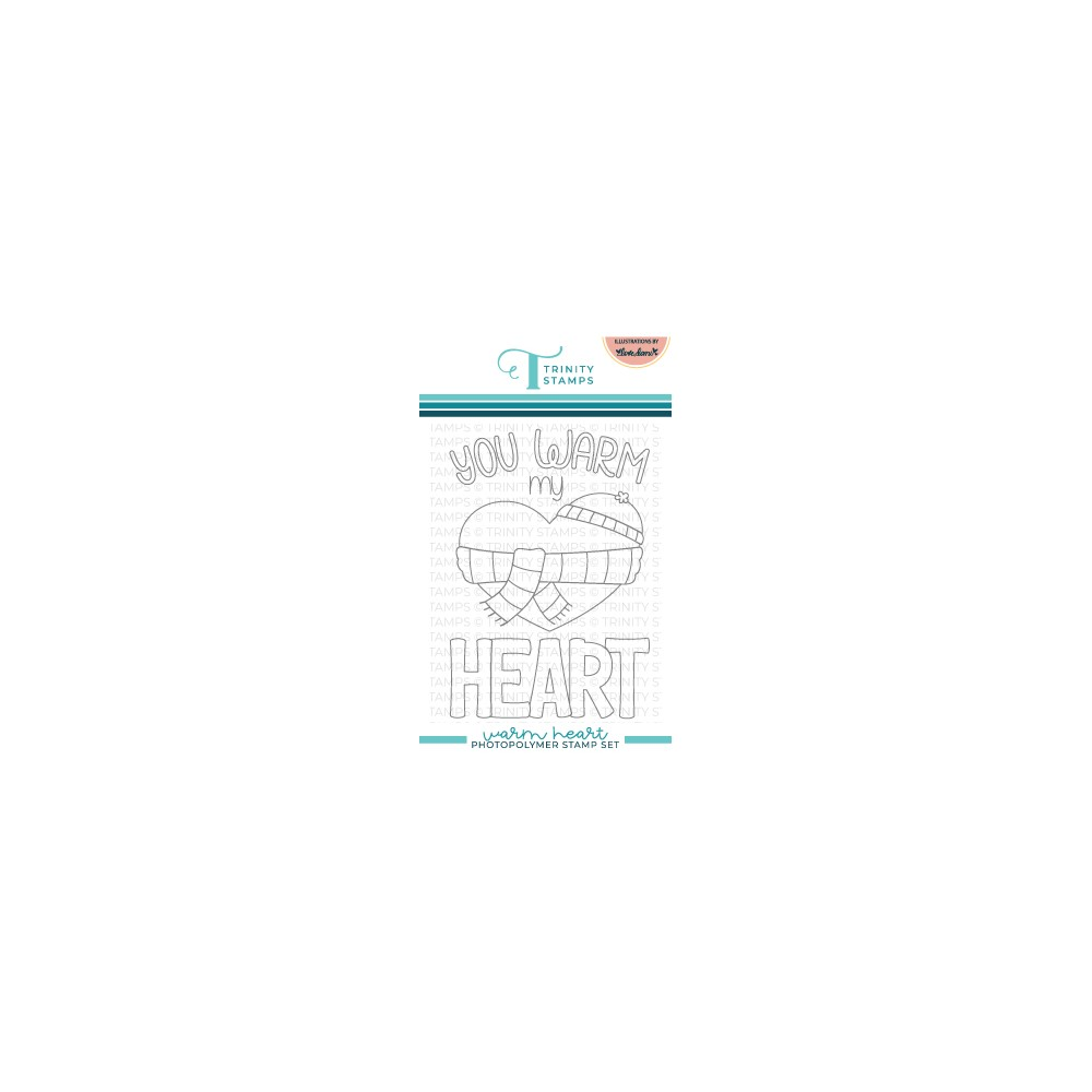 Trinity Stamps WARM HEART Clear Stamp Set tps151 zoom image