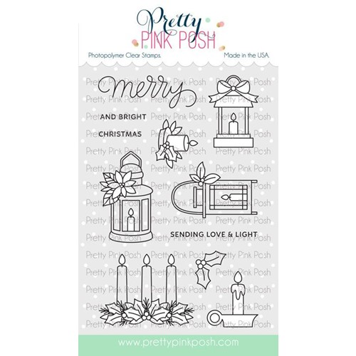 Pretty Pink Posh CHRISTMAS CANDLES Clear Stamps Preview Image